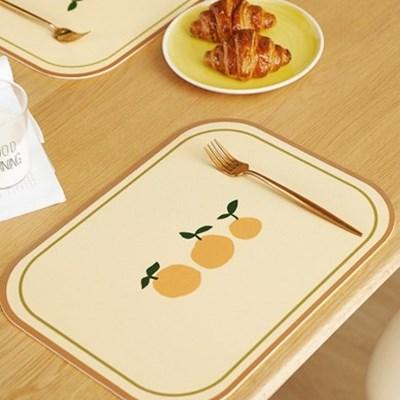 1+1 프리미엄 방수 PVC 식탁 테이블 매트 / 빈티지 2type