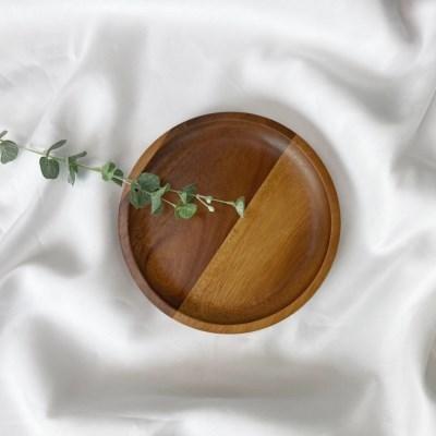 VNB 아카시아 원형 접시 소