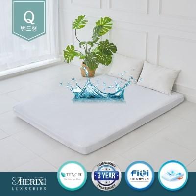호텔식 토퍼 커버 침대 매트리스 텐셀 방수커버 방수패드 밴드형(Q)