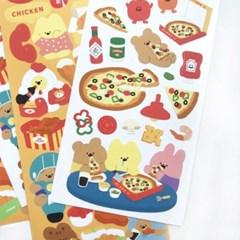에구구_피자한판 씰스티커