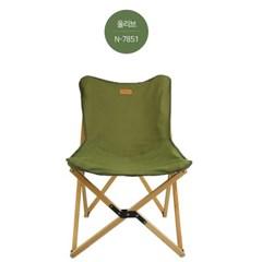 [노마드21] 와이드 우드 윙 체어 올리브 / 캠핑 의자