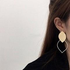 나뭇잎 드롭 화려한 패션 블랙닢 귀걸이