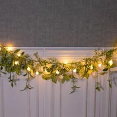 LED 감성그린가랜드 120cmR 조화 벽 인테리어 FMWGFT