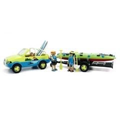 플레이모빌 해변 자동차와 카누(70436)