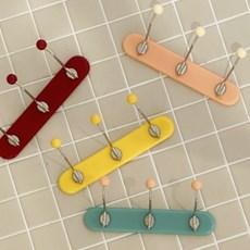 미니 빈티지 코트랙 자석 3구 (4color)