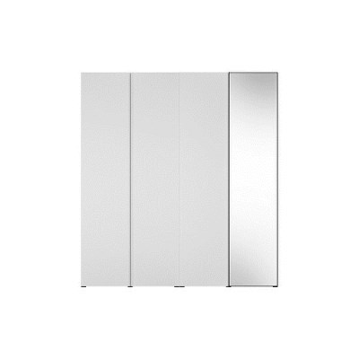 한샘 바이엘 채널 거울옷장세트 화이트 200cm(높이216cm) 행거형