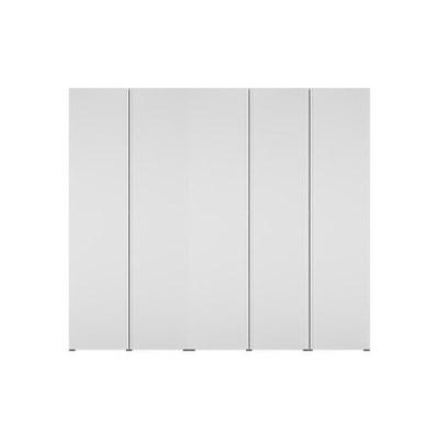 한샘 바이엘 채널 옷장세트 화이트 250cm(높이216cm) 선반형
