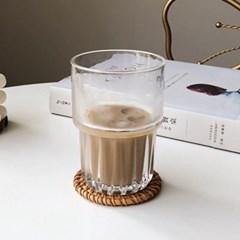 라탄 컵코스터 컵받침 티코스터 트레이 매트 10cm