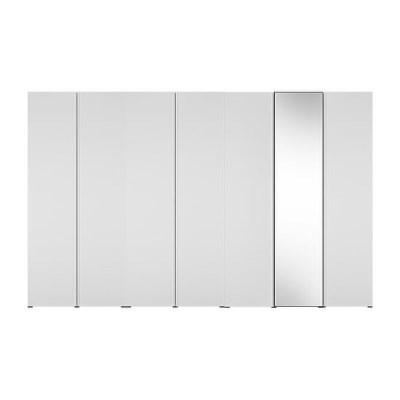 한샘 바이엘 채널 거울옷장세트 화이트 350cm(높이216cm) 선반형