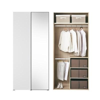 한샘 바이엘 채널 거울옷장 화이트 100cm(높이216cm) 수납형