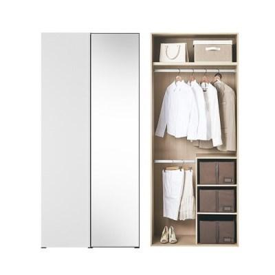 바이엘 채널 거울옷장 화이트 90cm(높이216cm) 수납형