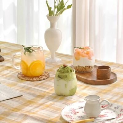 동글이 내열 글라스 컵 5종 택1 / 항아리머그 유리잔