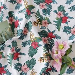 [Fabric] 하와이안 플라워 달리아 핑크 코튼