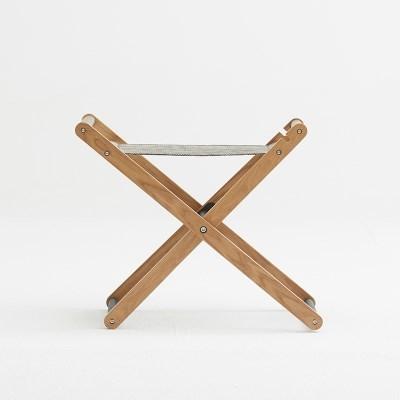 생활지음 뮤즈 메쉬 접이식 스툴 의자