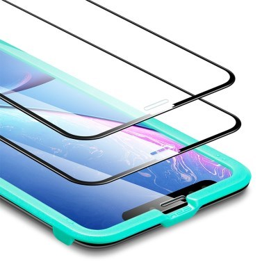 ESR 아이폰11 Pro 5X 풀커버 강화유리 2팩 (가이드 포함)