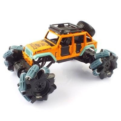 크라토스 4륜구동 드리프트 레이싱 메카넘 휠 오렌지 RC카