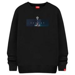 밤하늘배경 맨투맨 티셔츠 빅사이즈 남여공용