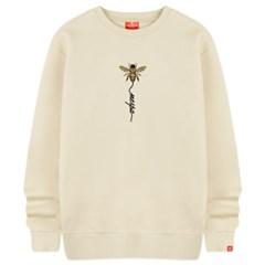 꿀벌폰트 맨투맨 티셔츠 빅사이즈 남여공용