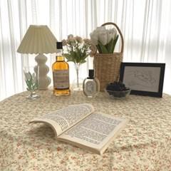 디아르 빈티지 플라워 테이블보 미니 협탁보 식탁보 패브릭 2Colors