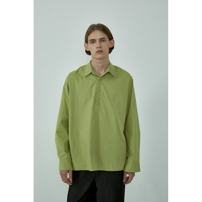 샤인 히든 반오픈 헨리넥 셔츠_(4color)