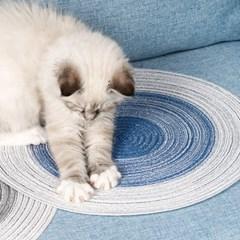 심플한 고양이 원형 로프 스크래처 매트