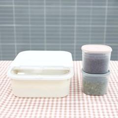 마카롱 쌀통 3Kg+마카롱 다용도 잡곡통 900ml 2개