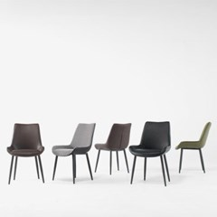 1인용 철제 커피숍 디자인 의자 (4colors)