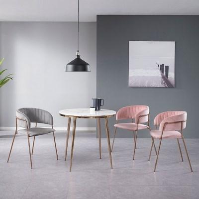 로즈골드 좌식 2인 원형 티 테이블 800 (2colors)