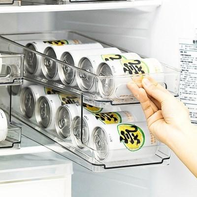 냉장고 대용량 2단 캔맥주 음료수 정리 트레이