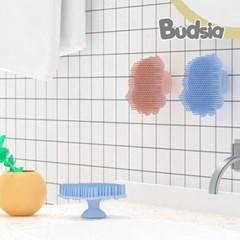 [버드시아] 흡착형 문어 실리콘 목욕브러쉬 (목욕타올/샤워볼)