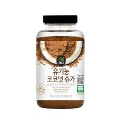 올바이오 유기농 꽃즙 코코넛슈가 비정제 갈색설탕 300g