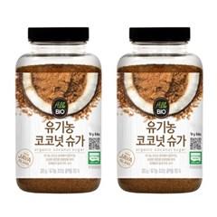 올바이오 유기농 꽃즙 코코넛슈가 비정제 갈색설탕 300g 2개