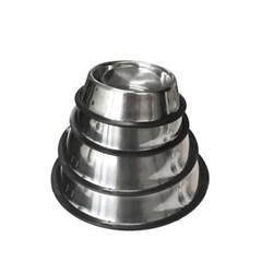 [블루마토] 반려동물 스테인레스 위생 밥그릇 물그릇 (XS~L)