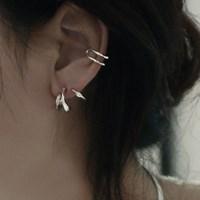 레이어드 두줄 이어커프 한쪽 귀걸이