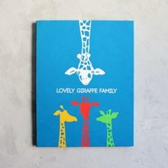 사랑스런 기린 가족 아이방 인테리어 캔버스 그림 액자