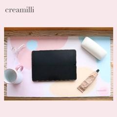 크리밀리 데스크패드 감성디자인 초극세사 책상덮개 테이블패드