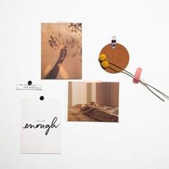 따뜻한 분위기 감성 카드엽서사진  촬영소품(3장세트)