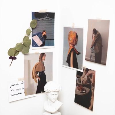 여인 인물 감성 포스터 카드 엽서  촬영소품(5장세트)
