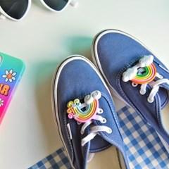 신발끈 버클 장식(레인보우 젤리 곰돌이)