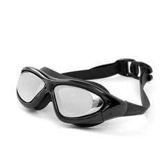와이드뷰 자외선차단 UV차단 넓은 고글 물안경(블랙)