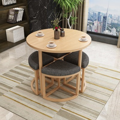[아이니샵] 원형 카페 테이블 & 의자_(360982)