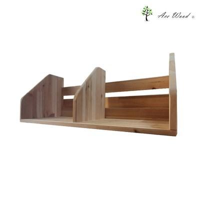 삼나무 원목 책꽂이 책상 선반 1단 2칸 정리