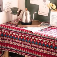 보헤미안 빈티지 식탁보 테이블매트 커버