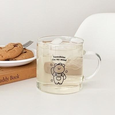 스프링 모모베어 내열유리컵