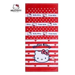 [Hello Kitty] 헬로키티 키티레드 어린이 세면, 비치타올_155g  1매