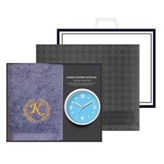 송월 타올시계선물세트(카이저160g코마40수1p+욕실시계 1p)+쇼핑백
