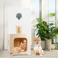 피터펫 원목 강아지집 고양이집 숨숨집 펫하우스