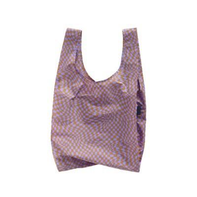 [바쿠백] 장바구니 접이식 시장가방 Lavender Trippy Ch_(6518987)