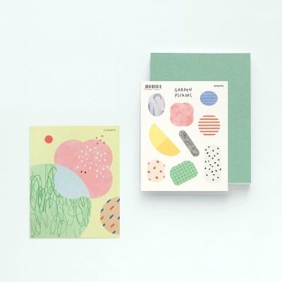 Garden picknic sticker set