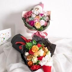산타비누장미꽃다발 43cmP 조화 꽃 선물 축하 FMBBFT
